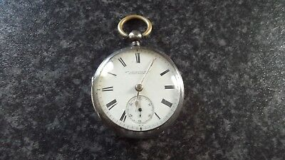 ANTIQUE VICTORIAN CHESTER HALLMARKED SILVER POCKET WATCH ( NO KEY TO CHECK ) 99p