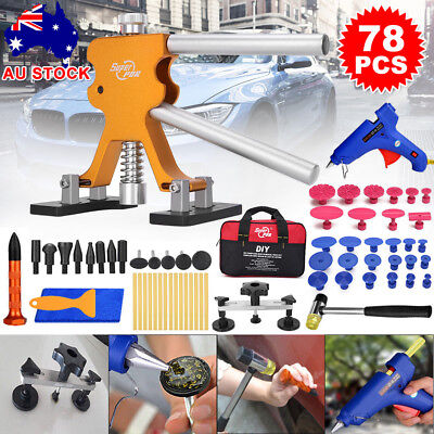 78× Paintless Hail Removal PDR Tools Car Dent Remover Puller Lifter Line Kit