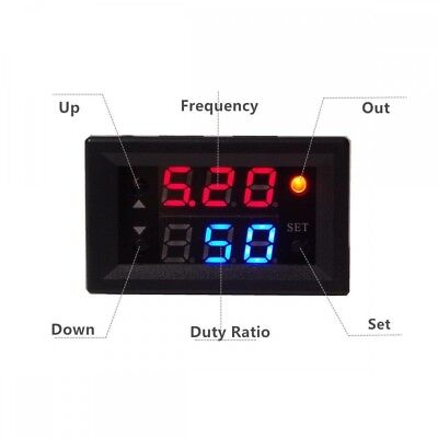 1Hz-160KHz Signal Generator PWM Pulse Frequency Duty Cycle Adjustable Module LED