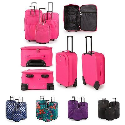 Large Medium Small Cabin Extra Light Trolley Luggage Travel Suitcase Bag Holiday