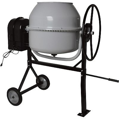 Klutch 6 Cubic Ft. Portable Cement Mixer - 1 HP