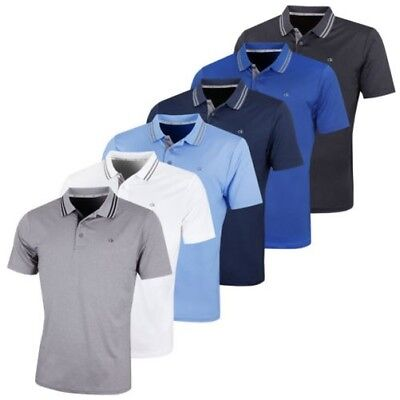 Calvin Klein Golf Mens 2018 Madison Lightweight Breathable Polo Shirt