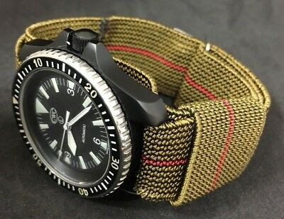 French Marines Ndc Military Watch Strap Nos Vintage Red Stripe [74000]