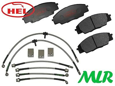 Hel Performance Honda Civic Fn2 2.0 Type R Track Day Front Brake Pads & Lines