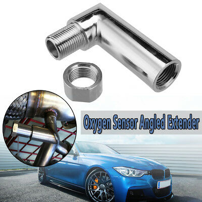 M18 X 1.5 O2 oxygen sensor angled extender spacer 90 degree 02 bung extension