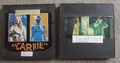 """ CARRIE "" -  2 X 400ft REELS FEATURE CINE FILM -SUPER 8mm SOUND"