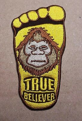 X files Big Foot True Believer embroidered Patch 3 1/2 inches tall