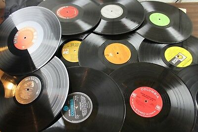 """Lot Of 10 Vinyl 12"""" Inch Records For Crafts Decorations, Lp"""