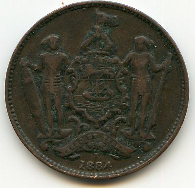 British North Borneo Cent 1884-H  lotsep2562