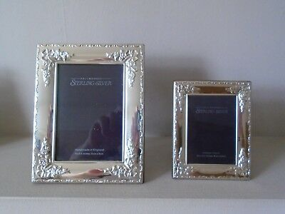 Beautiful Pair Matching Design R Carr Quality Hallmarked Silver Photo Frames