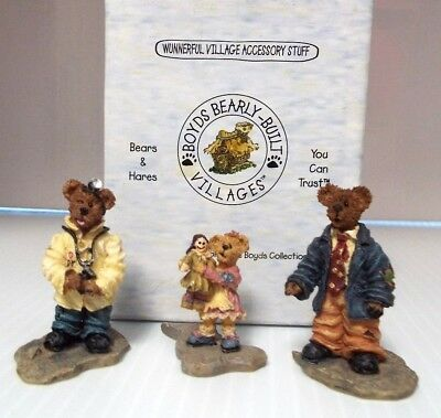 "Boyds  ""dr. Stock, Jill And Pop""  ~  *** (Set Of 3) ***"