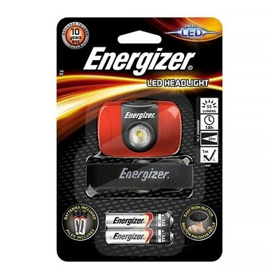 Energizer LED Head Torch LED Head Lamp 55 Lumens +Batteries Included  E300370901