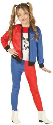 Girls Twisted Squad Girl Superhero Comic Halloween Fancy Dress Costume Outfit