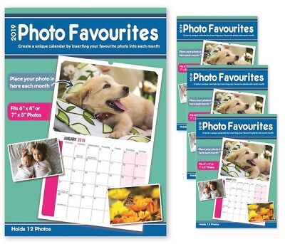 4 x PERSONALISE Your Calendar 2019 Your Own Photos Each Month Calender New Year