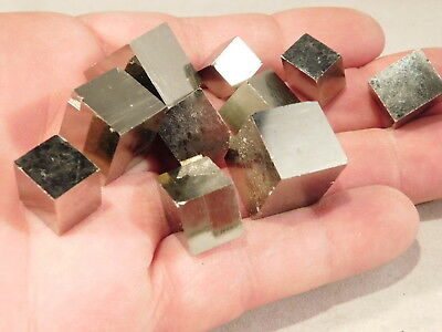 A Lot of TEN! 100% Natural AAA PYRITE Crystal Cubes! Found in Spain! 101gr