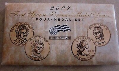 2007 First Spouse Bronze Medal Series Four- Medal Set from U. S. Mint