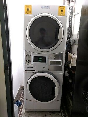 Maytag Electric Coin Operated Washer Dryer Stack, w/ Coin Box