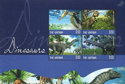 DINOSAURS Mint MNH Stamp Sheet #10 (2014 Gambia)