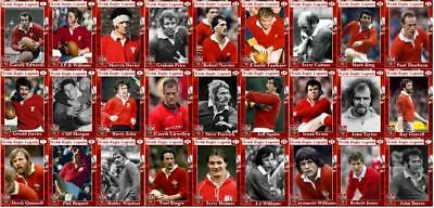 Wales Rugby Union legends Trading Cards