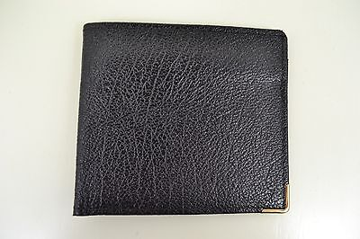 VINTAGE 1970s ENGLISH MADE BLACK BIFOLD LEATHER WALLET