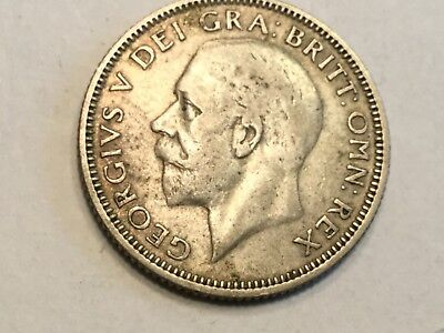 GREAT BRITAIN 1933 1 Shilling silver coin nice condition