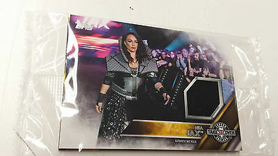 2016 Topps WWE Nia Jax Card NXT London Takeover Authentic Mat Relic