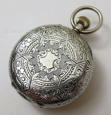 Antique Solid Silver Top Wind Pin Set Fob Pocket Watch Spares Repair