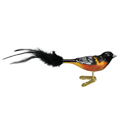 """Oriole"" (Baltimore Oriole) (18059)X Old World Christmas Glass Ornament w/OWC Bx"