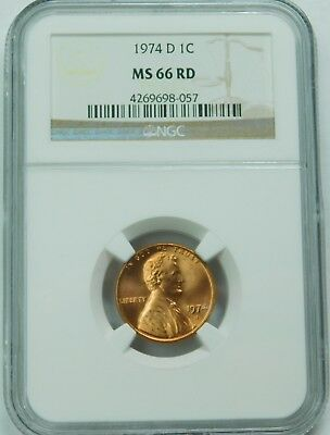 1974-D Lincoln Memorial Cent NGC MS66RD b