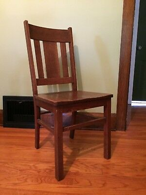 Antique Mission / Craftsman / Arts & Crafts Oak Dining Chair