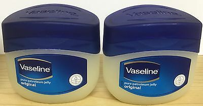 2x Vaseline Original Moisturising Pure Petroleum Jelly Original 50ml Face & Body