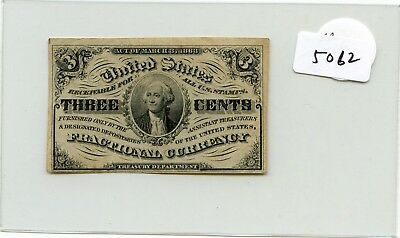 US Fractional Currency 1863 series 3 cents note Pick 105a super HG lotsep5062