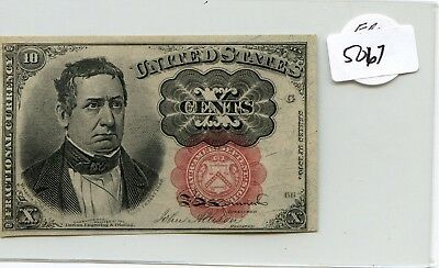 US Fractional Currency 1874 series 10 cents note Pick 122b HG lotsep5067