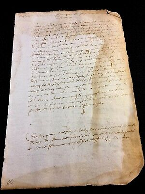 Antique  Paper Document 1547