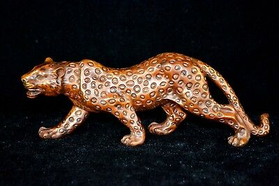 Chinese Old Boxwood Handwork Rare Collectible Antique More Wealth Leopard Statue