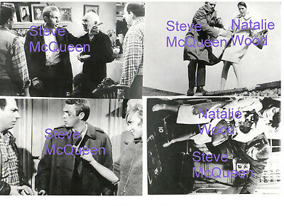 STEVE McQUEEN NATALIE WOOD LOVE WITH PROPER STRANGER SET OF 4 PHOTOS LOT CANDID
