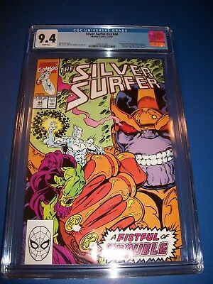 Silver Surfer #44 1st Infinity Gauntlet Thanos CGC 9.4 NM Beauty Wow