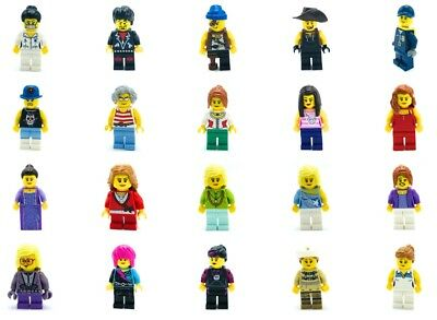 LEGO 40 NEW LEGO MINIFIGURES TOWN CITY SERIES BOY GIRL CLOWN NURSE W// BONUS TOO