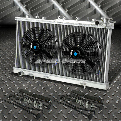 "3-ROW ALUMINUM RADIATOR+1X 14/""FAN KIT BLACK FOR 71-73 FORD MUSTANG//LTD//SQUIRE V8"