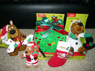 Scooby Doo Christmas Lot Gemmy Animated Dancing Plush Pop Up Present + More