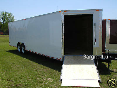 NEW 8.5x24 8.5 X 24 Snowmobile Enclosed Carhauler Cargo Trailer w/ Ramps