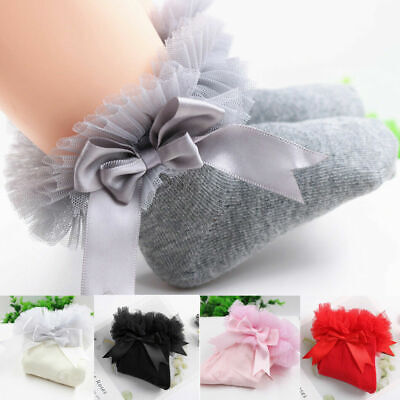 Baby Girls Kids School Socks Cotton Lace Tutu Socks Frilly Lace Ankle Socks Uk