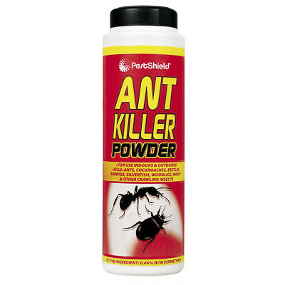 PestShield Ant Killer Powder Cockroaches Ants Earwigs Beetles Indoor Outdoor 240