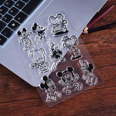 Transparent Clear Silicone Mickey Rubber Stamp DIY Diary Scrapbooking Card