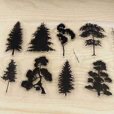 Pine Tree Transparent Clear Silicone Stamp DIY Diary Scrapbooking Card Christmas