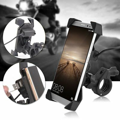 X-Grip RAM Motorcycle Bike Phone Mount Holder USB Charger For Mobile Phone GPS