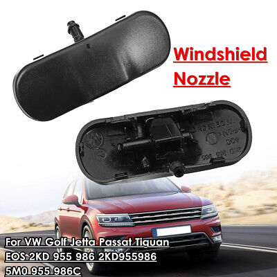 2x Windscreen Windshield Washer Nozzle Spray Jet For VW Golf Jetta Passat Tiguan