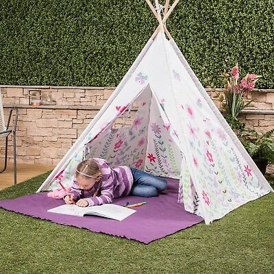 Kids Play Tent Teepee Indian Wigwam Style with Matching Bag - Choice of Colours