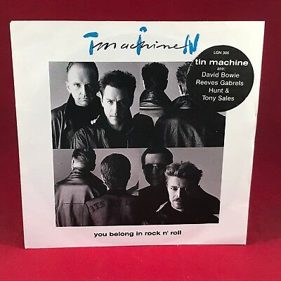 """TIN MACHINE You Belong In Rock N Roll 1991 UK 7"""" vinyl single DAVID BOWIE EXCELL"""