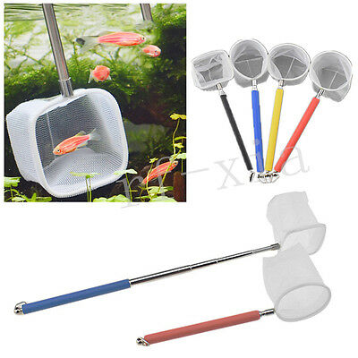 Aquarium Fish Tank Telescoping Fish Net Tropical Coldwater Marine Netting Scoop